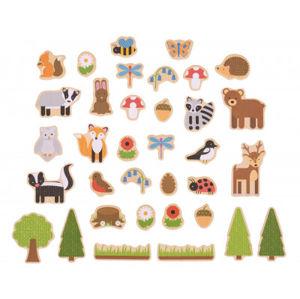 Bigjigs - magnetky lesné zvieratká