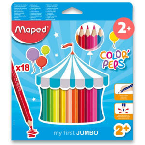 Pastelky Maped Color´Peps Jumbo – 18 farieb