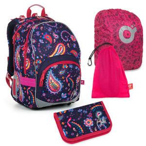Set pre školáka KIMI 19010 G SET LARGE - Školská taška, Vrecko na prezuvky, Pláštenka na batoh, Školský peračník