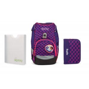 Školský set Ergobag prime Fluo ružový - batoh + peračník + dosky