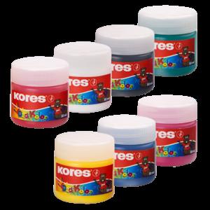 Prstové farby Kores Dedi Kolor 7 farieb, 30 ml
