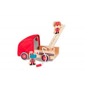 Lilliputiens – drevené hasičské vozidlo a nosorožec Marius
