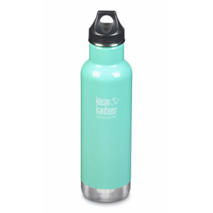 Termoska Klean Kanteen Insulated Classic w/Loop Cap - sea crest 592 ml