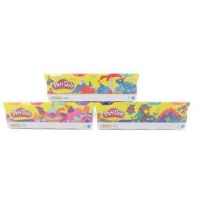 Play-Doh Balenie 4 tuby – fialová, ružová, modrá, oranžová
