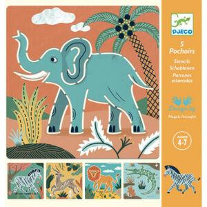 Kresliace šablóny - Divoké zvieratá